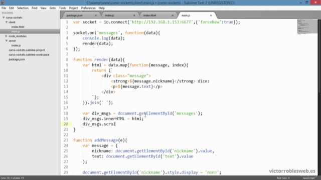 Crear una aplicación web de Chat con NodeJS y SocketIO