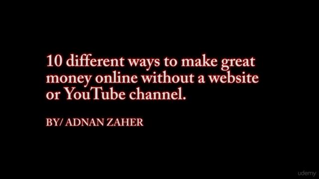 Ten different ways to make great living online.