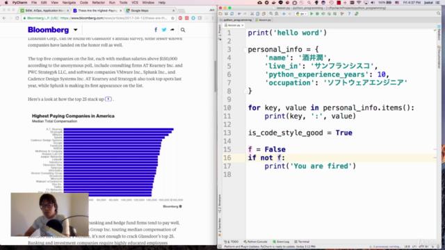 現役シリコンバレーエンジニアが教えるPython 3 入門 + 応用 +アメリカのシリコンバレー流コードスタイル