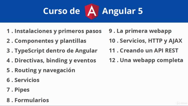 Curso de Angular 11 - Desde cero hasta profesional