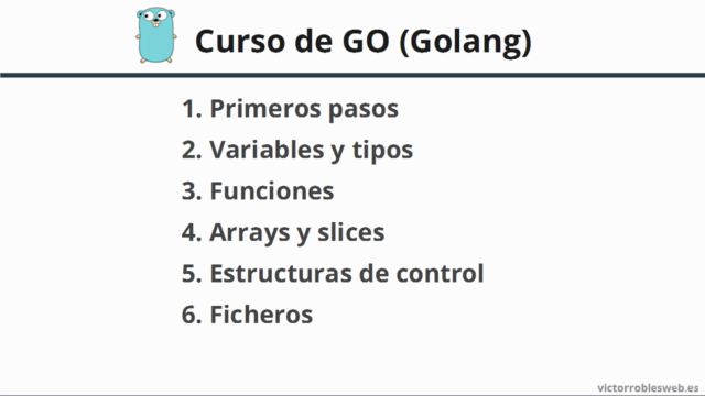 Curso de Go - Como programar y crear APIs RESTful con Golang