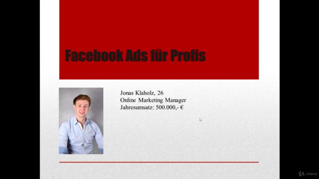 Facebook Ads Masterclass: Werde zum Facebook Ads Profi