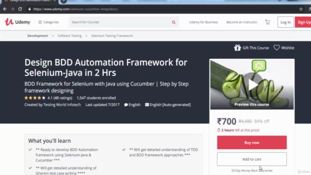End-To-End BDD Framework -Selenium Java Cucumber GIT Jenkins