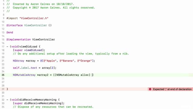 iOS 11 & Objective-C - Complete Developer Course