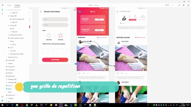 Adobe XD:UI/UX Design & Prototypage d'App Mobile et Site Web