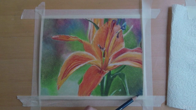colored pencils on sanded paper, the basics