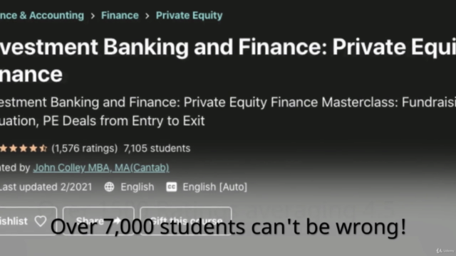 Investment Banking and Finance: Private Equity Finance