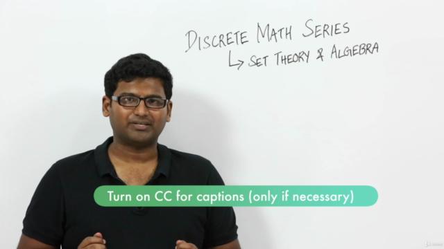 Discrete Math Series : Set Theory & Algebra masterclass