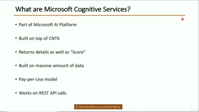Machine Learning + Microsoft Azure Cognitive Services AI-900