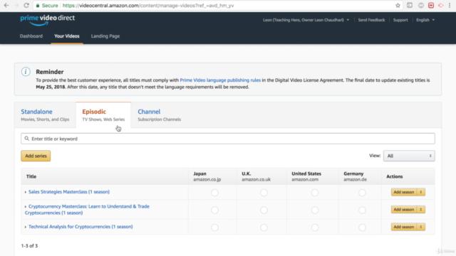 Amazon Video Direct: Verkaufe Videos mit Amazon Video Direct