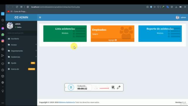 Sistema Control de Asistencia PHP, MYSQL, AJAX, JS