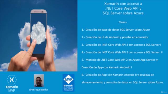 Xamarin con acceso a .NET Core y SQL Server sobre Azure