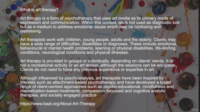 The MOST Comprehensive Art Therapy Course (Oxford Diploma)