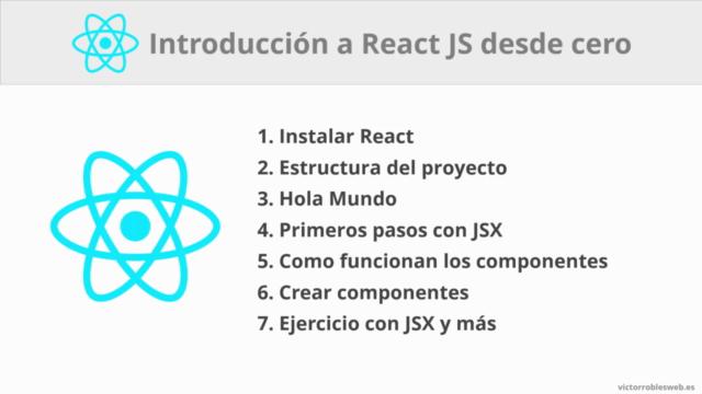 React JS - Curso de introducción desde cero y primeros pasos