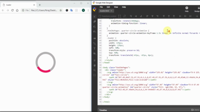 Learn SVG & CSS loader animation without code