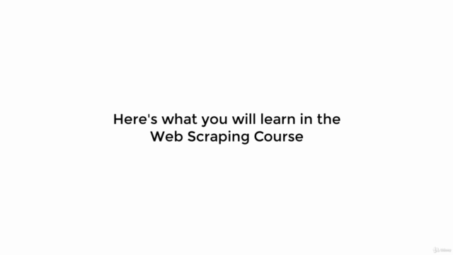 Web Scraping Course: Scrape Websites Without Coding