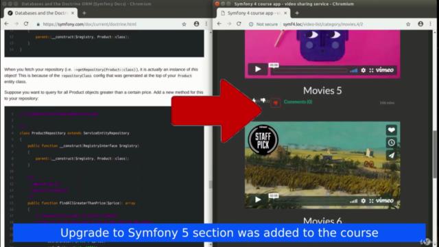 Symfony 4 & 5 Web Development Guide: Beginner To Advanced