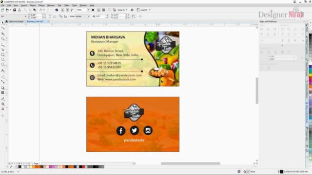 प्रोफेशनल बिजनेस कार्ड डिजाइन - कोरल ड्रॉ (CorelDRAW)