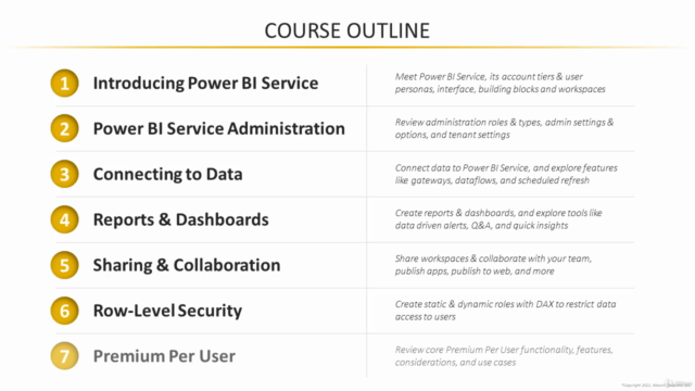 Microsoft Power BI - Up & Running With Power BI Service 2021