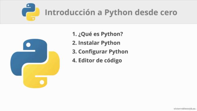 Curso de Python - Introducción desde cero y primeros pasos