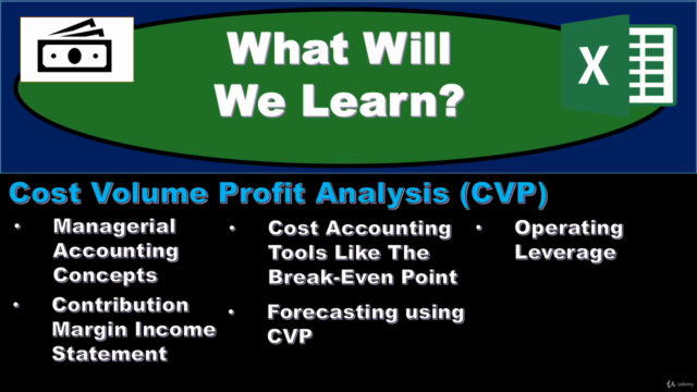 Cost Volume Profit Analysis (CVP) – Managerial Accounting