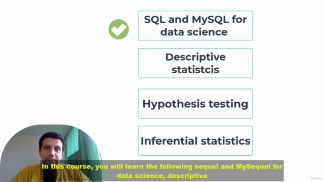 MySQL - Statistics for Data Science & Business Analytics