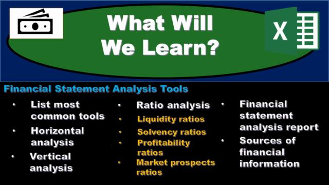 Financial Statement Analysis – Ratio Analysis