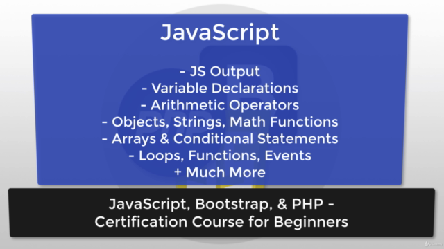 JavaScript, Bootstrap, & PHP - Certification for Beginners