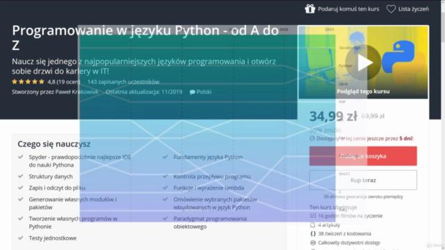 Programowanie w języku Python - od A do Z - 2021