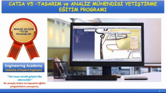 CATIA V5 - Tasarım ve Analiz Mühendisi Yetiştirme Eğitimi