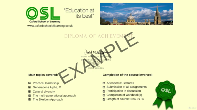 Leadership & Cultural Diversity (Accredited Oxford Diploma)