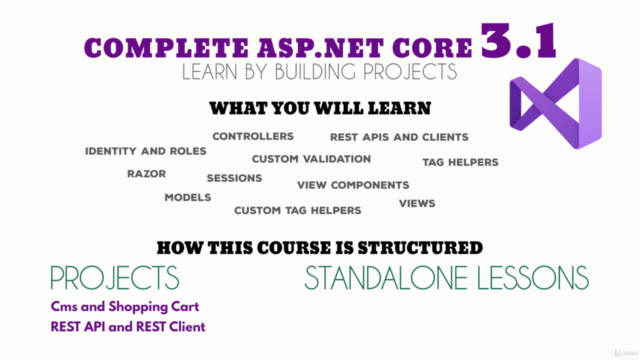 Complete ASP.NET Core MVC 3.1 - Learn by building projects