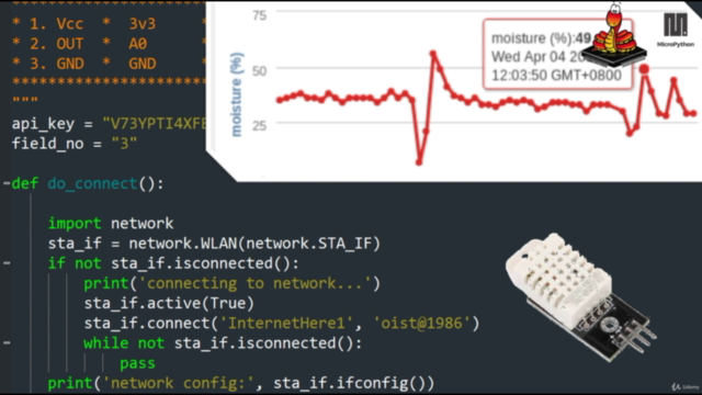 MicroPython Mega Course: Build IoT with Sensors and ESP8266