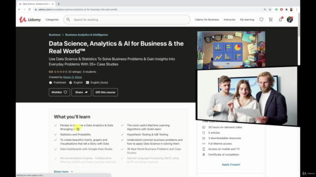Data Analysis Bootcamp™ 21 Real World Case Studies