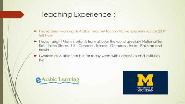 Arabic conversation course
