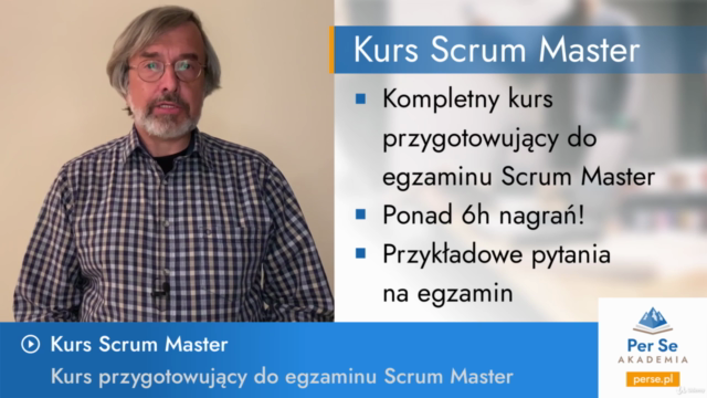 Scrum Master Po Polsku Kurs Online Egzamin Certyfikat
