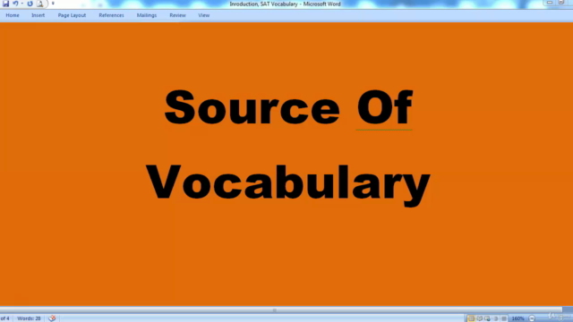 SAT Vocabulary Builder