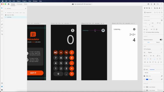 Voice UI (VUI) App Prototyping using Adobe XD