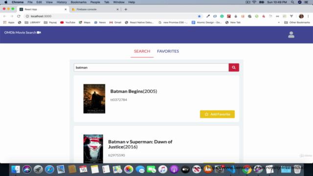 ReactJS Fullstack : Firebase Firestore et Authentification
