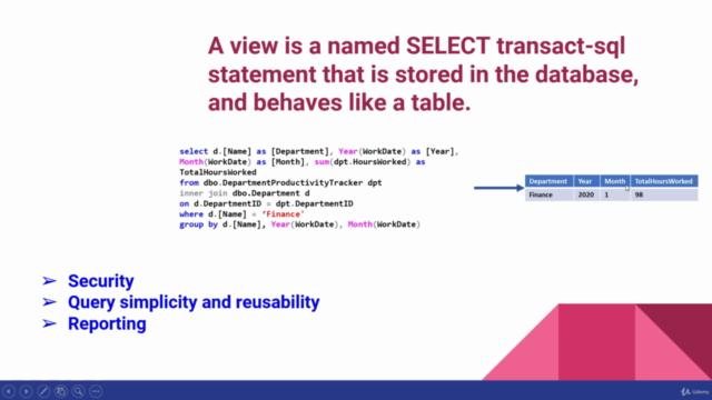 Design Database Views in SQL Server