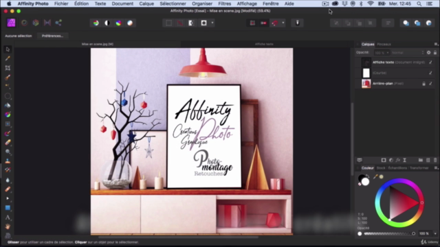 AFFINITY Photo | Initiation - Outils + Créations graphique