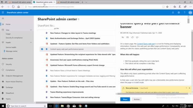 Managing Office 365 Content Services - Français MS-300 T01