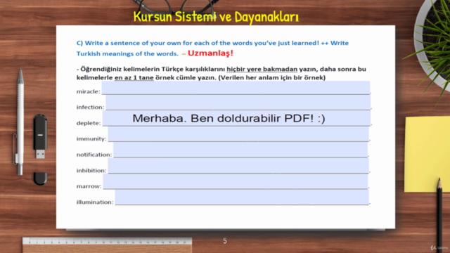 İngilizce-Kalıcı Kelime Öğrenme Kursu (5000+Kelime 50+ Saat)