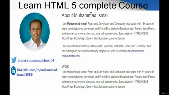Learn HTML 5: The Complete Course
