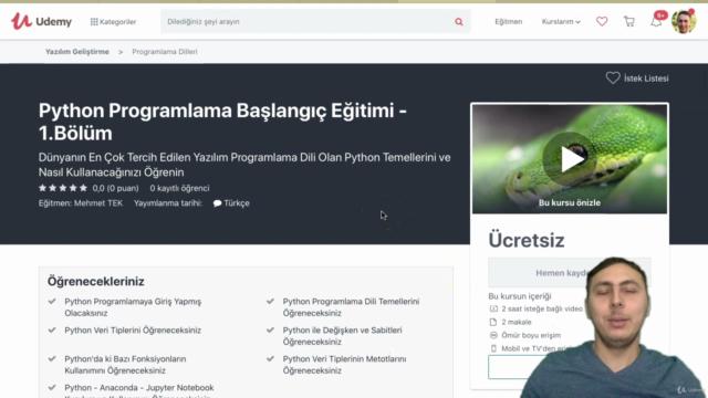 Python Programlama Başlangıç Eğitimi - 1.Bölüm