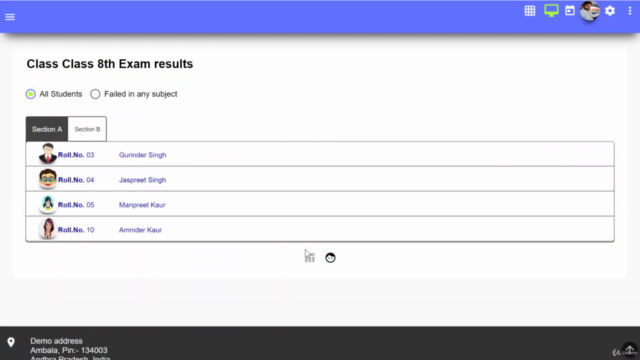 Angular 9, Mongodb - School management software