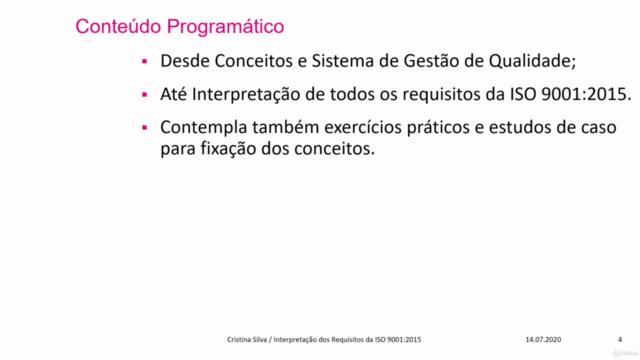 Curso de Interpretação da Norma ISO 9001:2015