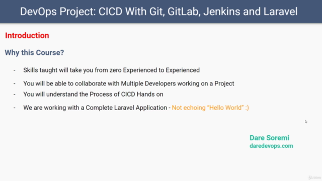 DevOps Project: CICD with Git GitLab Jenkins  and Laravel