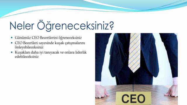 Kuşaklar Arası Liderlik ve CEO'luk Eğitimi
