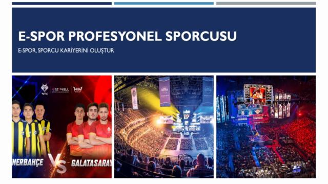 E-spor Eğitimi ve E-sporcu Kariyerini Oluştur